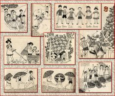 "Lindgren Astrid – "" To dla pamięci "" Zine, Paper Dolls, Cute Kids, Childrens Books, Illustrators, Vintage World Maps, Gallery Wall, Quilts, Writing"