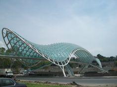 Modern bridge in Tbilisi