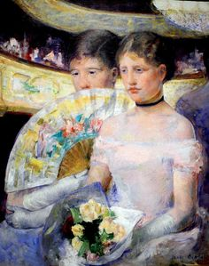 Mary Cassatt De Loge, ca. olieverf op doek, x cm, National Gallery of Art, Washington Mary Cassatt, National Gallery Of Art, Christian Morgenstern, Oil On Canvas, Canvas Art, American Impressionism, Poster Prints, Art Prints, Edgar Degas