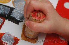 Kids Get Arty: Exploring Klimt - Red Ted Art - Exploring famous artists with kids – KLIMT! We look at geometrical shapes, did lots of printing - Gustav Klimt, Klimt Art, Kindergarten Art, Preschool Art, Art Activities For Kids, Art For Kids, Importance Of Art, Potato Print, Montessori Art