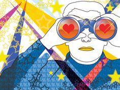 Check out 'Looking4Love' Illustration by Batya Kuncman on TurningArt