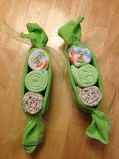 My daughter and I made some of these for a peas in a pod baby shower they were really easy and so cute!