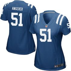 $109.99 Nike Elite Women's Indianapolis Colts #51 Pat Angerer Team Color Blue NFL Jersey
