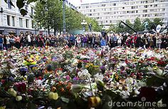 24th aug- Norway awaits the verdict in the 10-week trial of Anders Behring Breivik, as a court decides whether to send him to jail or a mental hospital for the massacre of 77 people.- © Maggern | Dreamstime.com - Panorama: 25. july people gather in mourning outside the Oslo Domkirke in downton Oslo after the two terror attacks that hit Norway 22. juy killing at least 77 people.