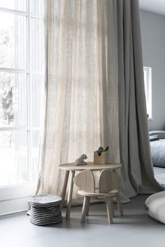 Window coverings are a lost art of design. They are not just for controlling light. The right window coverings can add softness to a room with predominantly hard surfaces, they can control acoustics and add that splash of color that can be easily changed with taste or season. The key to good window treatments are layering and choosing the right fabrics.