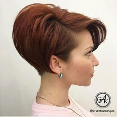 Aesthetic Hairstyles Short Hair Trends Are You Ready? - Page 23 of 102 - Inspiration Diary Stacked Haircuts, Short Bob Haircuts, Short Wedge Hairstyles, Wedge Haircut, Sweet Hairstyles, Short Hair Trends, Pixie Haircut, Fine Hair, Short Hair Cuts