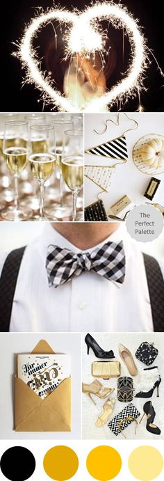 The Perfect Palette: {A Sparkly Soiree}: A Palette of Gold, Black + White