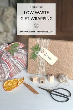 Switch to eco-friendly gift wrapping alternatives to reduce waste and save money this holiday season! Check out these 5 different options for recyclable and reusable gift wrapping alternatives. Reduce Waste, Zero Waste, Sustainable Living, Recycling, Wraps, Gift Wrapping, Place Card Holders, Packaging, Eco Friendly