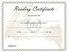 School Certificate Archives - Page 2 of 3 - Free & Premium 123 Certificate Templates Printable Certificates, Certificate Templates, Reading Certificate, School Certificate, Awards, Encouragement, Templates Free, Schools, Kid