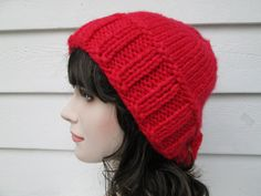 Very cute beanie Winter hat is Great accessory for any time of the year, Dressy and elegant.  Oversized Ponytail Beanie  Its hand knitted by me