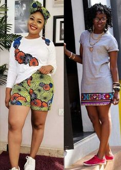 How to Rock African Print Styles to Lectures with Swag Latest African fashion dresses with sneakers, african wear styles on campus, ankara, women's fashion styles Latest African Fashion Dresses, African Dresses For Women, African Attire, African Wear, African Style, African Print Pants, African Print Dresses, African Print Fashion, Short Ankara Dresses