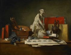 The Attributes of the Arts and the Rewards Which Are Accorded Them (1766), Jean-Baptiste-Siméon Chardin (French, 1699-1779). Oil on canvas.