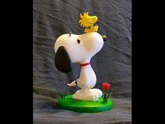 Polymer Clay Snoopy timelapse - YouTube