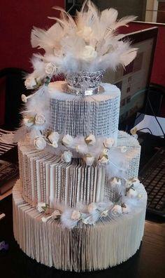 3d 3 tier book fold wedding cake pattern by cathysbookpattern on Etsy