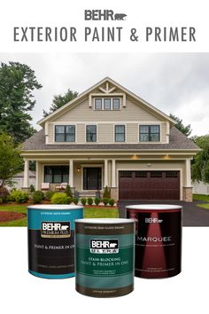 Make 2020 the year of home makeover projects—BEHR® Exterior Paint & Primer can help. With a range of products and colors to choose from, it's easy to find the right one to fit your home renovation needs. Click below to learn more.