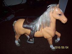 """Belgium Draft Palomino Pony/Horse and Saddle Toy 18"""""""