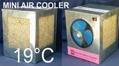 VIDEO : how to make an air cooler at home - this is a really awesome project totally made at home. this simple but most reliable project coo. Diy Swamp Cooler, Diy Cooler, Room Cooler, Bucket Air Conditioner, Homemade Air Conditioner, Water Cooler Fan, Hvac Tools, Garage Tools, Diy Ac