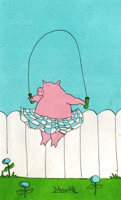 Pig Skipping Rope