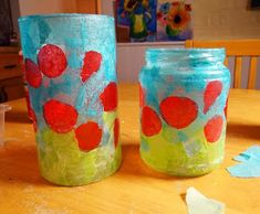 How to make a stained glass poppy votive Here's a fun little project that would make a lovely teacher or hostess gift for the holidays. Nursing Home Crafts, Remembrance Day Art, Poppy Craft, Arts And Crafts, Paper Crafts, Art Lesson Plans, Cute Crafts, Hostess Gifts, Glass Jars