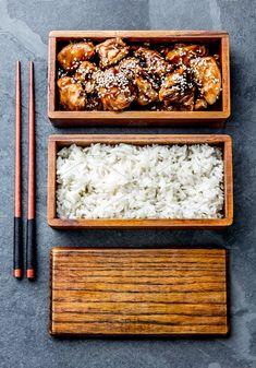 Chicken teriyaki with rice in wooden bento lunch box. Chicken teriyaki with rice in wooden bento lunch box. Bento Recipes, Baby Food Recipes, Food Network Recipes, Bento Ideas, Yogurt Recipes, Chef Recipes, Rice Recipes, Recipes Dinner, Diabetic Recipes