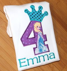 Queen Elsa Turquiuse Sequins  Princess Anna by ButuzaBabyDesigns, $23.95