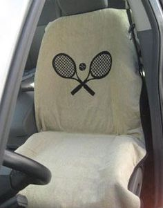SlamGlam - Seat Armor Tennis Car Seat Towels.  Show off your love for the sport while protecting your car seat with this great towel!  100% cotton terry velour!