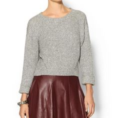 HOST PICKRebecca Minkoff Giles Cropped Sweater 60% wool 30% polyamid 10% mohair. Host Pick by @queenmab236 @marifun @floridafashion1 @candace011 and @jennifernicoleb Rebecca Minkoff Tops