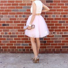 Clarisa Blush Pink Tulle Skirt Princess Tutu Pale Pink Puffy Tulle... ($79) ❤ liked on Polyvore featuring skirts, grey, women's clothing, gray tulle skirt, tulle skirts, plus size short skirts, plus size midi skirt and tutu skirts