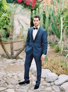 Stylish groom in navy: http://www.stylemepretty.com/little-black-book-blog/2016/07/13/soap-opera-stars-wedding-better-than-any-daytime-tv-love-story/ | Photography: Sarah Kate - http://sarahkatephoto.com/