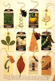 Love the idea of using seed packets for tags