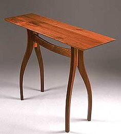 Crisfield Hall Table: Richard Laufer: Wood Hall Table - Artful Home