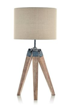 Wooden Tripod Table Lamp from Next