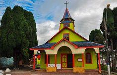 Chiloé Island's church, Los Lagos Region, Chile.