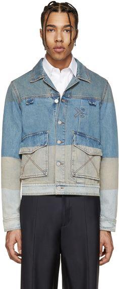 Kenzo - Blue Denim Colorblocked Jacket
