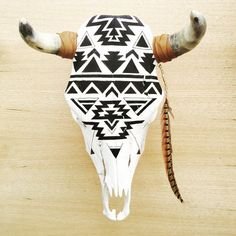 Navajo Cow Skull - James Geordan // HUNTED FOX