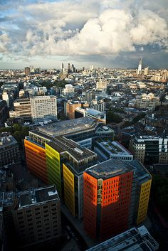 Central London is transformed by the cheerful sight of Central St. Giles, designed by Renzo Piano