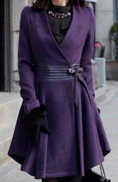 stylish purple coat
