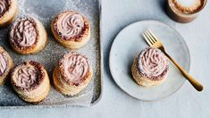 Luumumoussetortut - Yhteishyvä Baked Goods, Cheesecake, Muffin, Goodies, Baking, Breakfast, Desserts, Christmas, Recipes