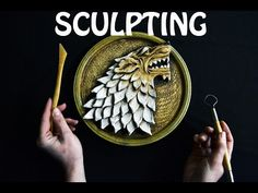 GAME OF THRONES - sculpting Stark Sign WOLF - Tutorial Time lapse