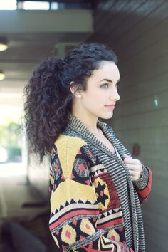 I want to grow my hair out and FINALLY wear it curly like this!