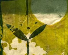 Secret Life of my Garden, ooak gelatin monoprint on handmade paper. $38.00, via Etsy.
