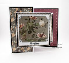 These cards were made for Creative Crafting World using Garden Visitors cd-rom and paper kit. With images from Pollyanna Pickering. Bird Cards, Handmade Birthday Cards, Homemade Cards, Card Stock, Projects To Try, Card Making, Garden Birds, Easy Cards, Crafty