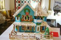 a gingerbread house contest winner