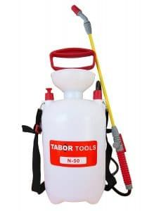 TABOR TOOLS Gallon Lawn and Garden Pump Pressure Sprayer for Herbicides, Fertilizers, Mild Cleaning Solutions and Bleach, Includes Shoulder Strap.