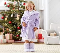 Fleece Robe, Lavender #pbkids