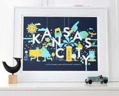 Kansas City Print | Tad Carpenter Creative