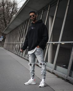 Cool Outfits For Men, Best Casual Outfits, Casual Wear For Men, Stylish Mens Outfits, Urban Style Outfits Men, Men Style Casual, Black Men Street Fashion, Men With Street Style, Urban Fashion Men
