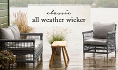 Classic All Weather Wicker Lounge by the Lake