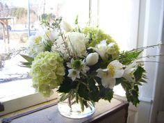 Winter white arrangement Roberts Flowers of Hanover, Hanover, NH