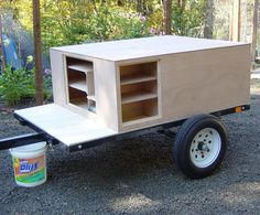 An overview of what goes into a Tent Topped Camping Trailer(tm) Bug Out Trailer, Camping Trailer Diy, Work Trailer, Camping Box, Trailer Tires, Trailer Build, Kayak Camping, Utility Trailer, Truck Camping